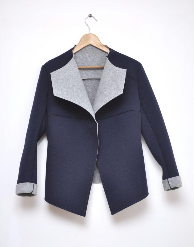 Jacheta albastru inchis din neopren