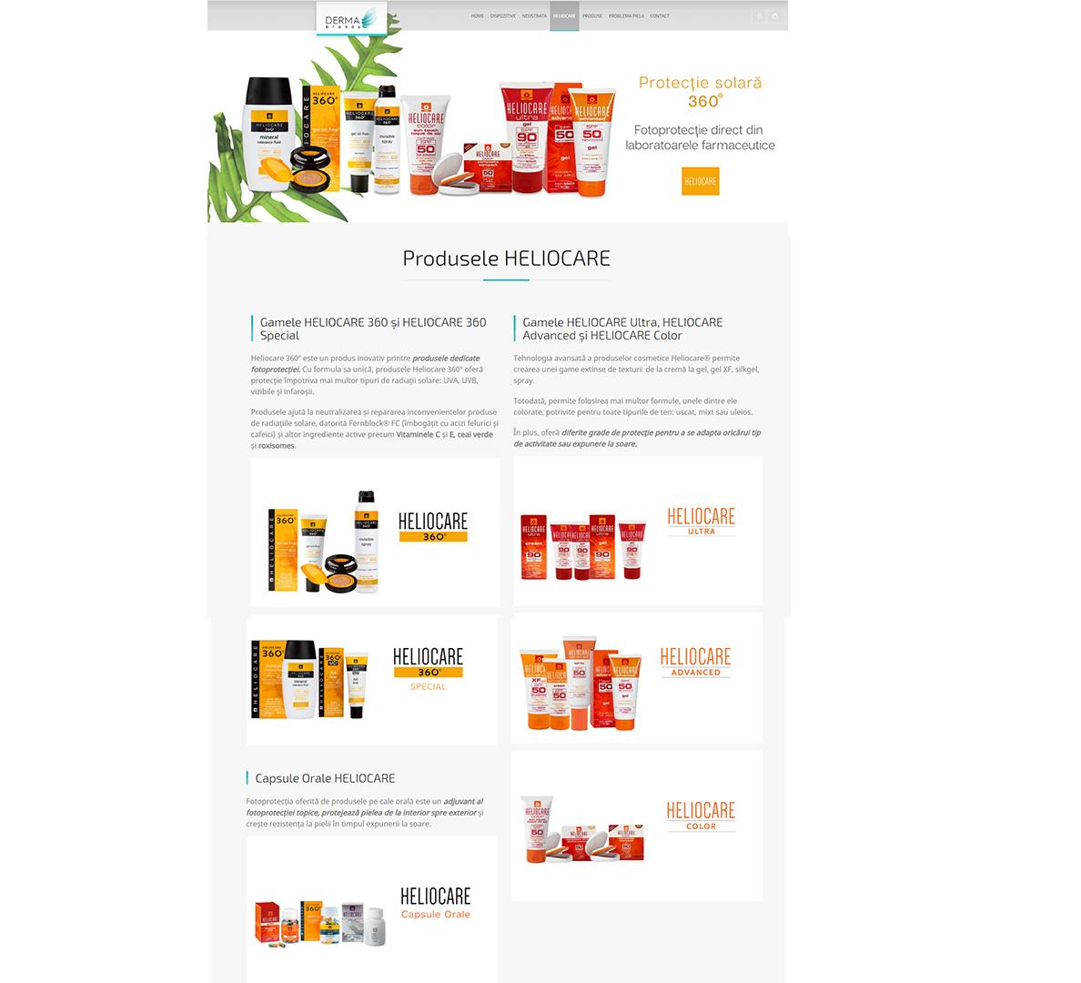 Web design Ama Mihaescu Creative Studio Dermabrands