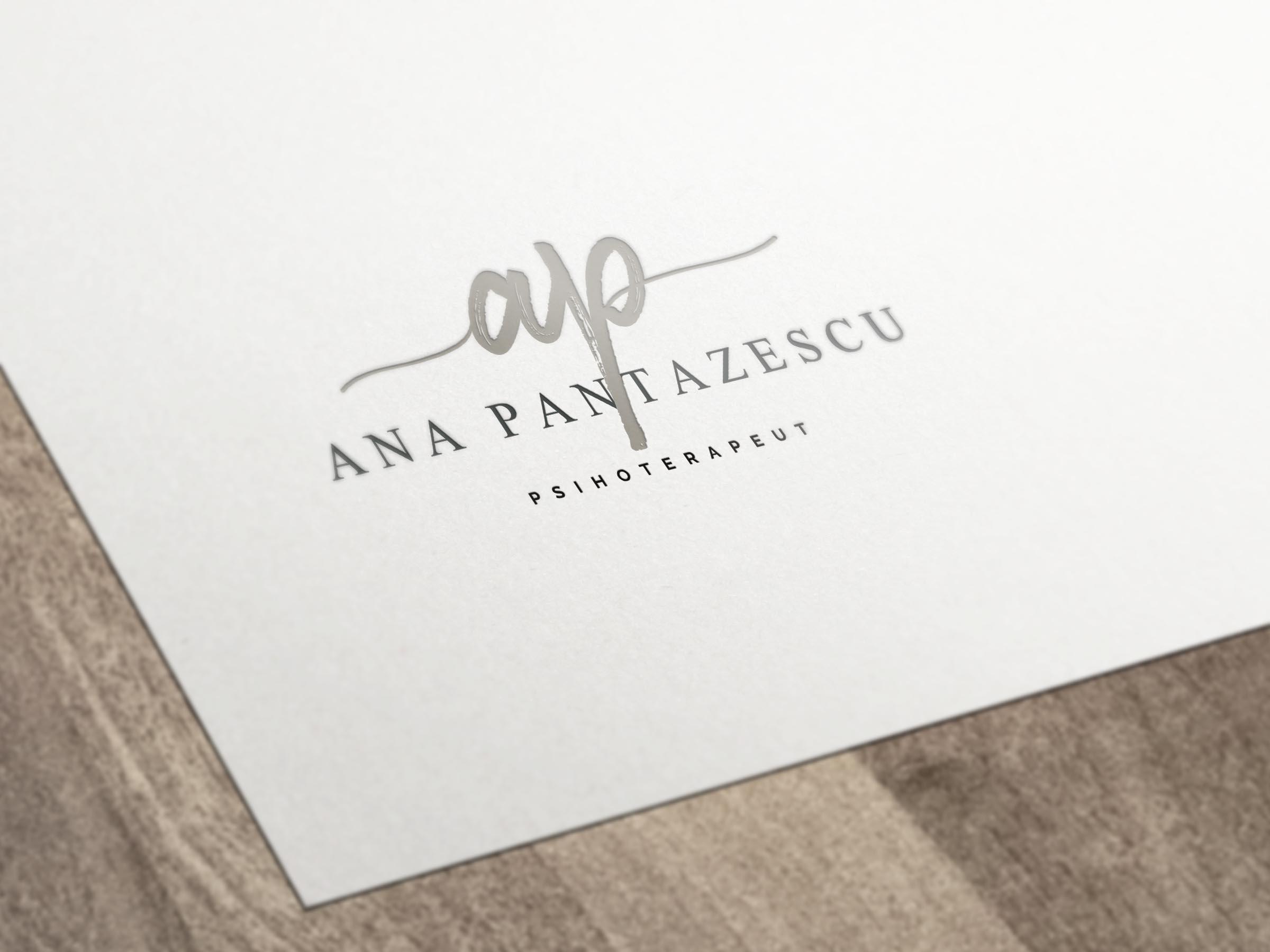 Logo Principal Mockup Ana Pantazescu | Ama Mihaescu Creative Studio | Web Design | Branding