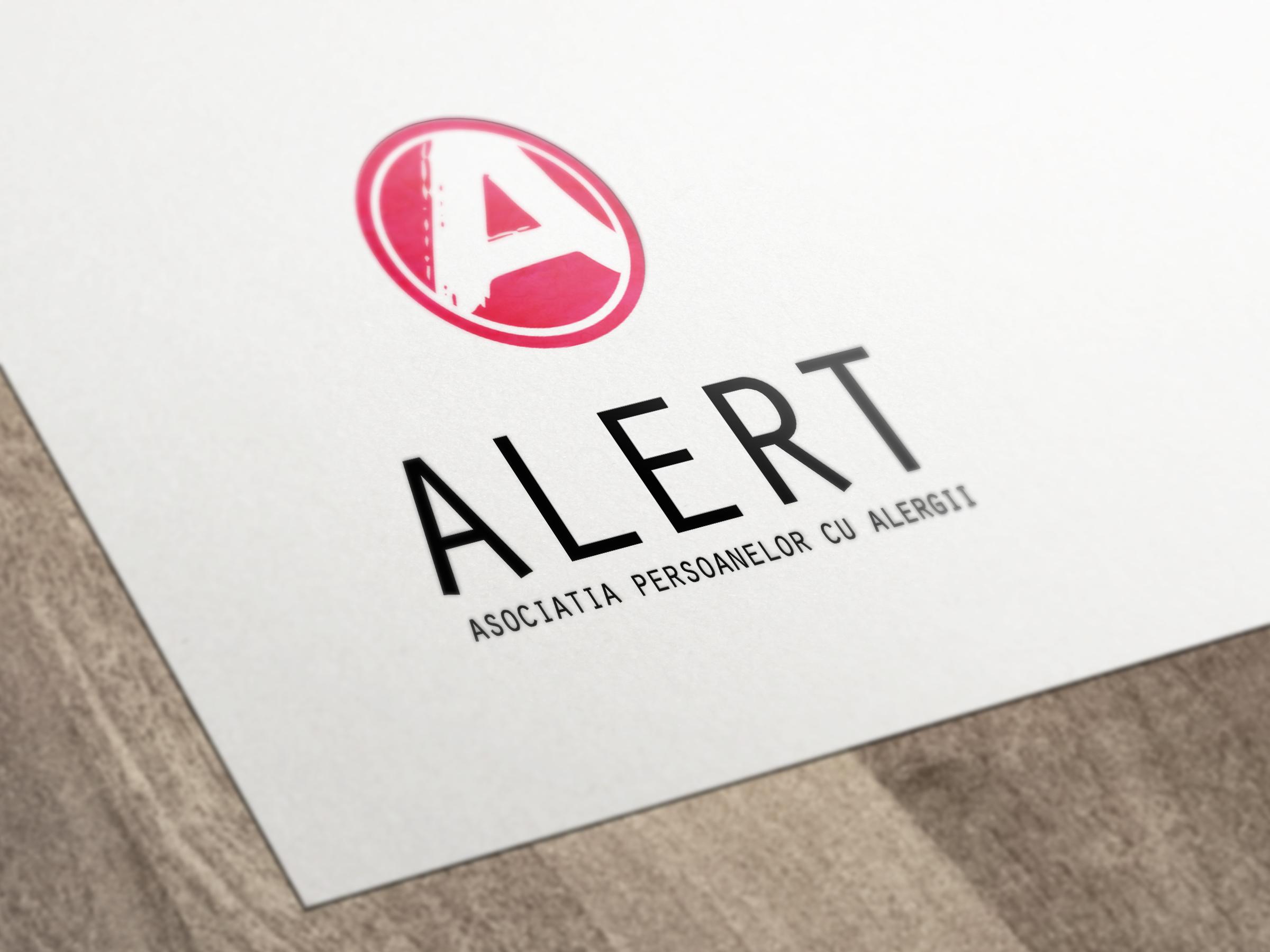 Mockup Logo Asociatia Alert Ama Mihaescu Creative Studio