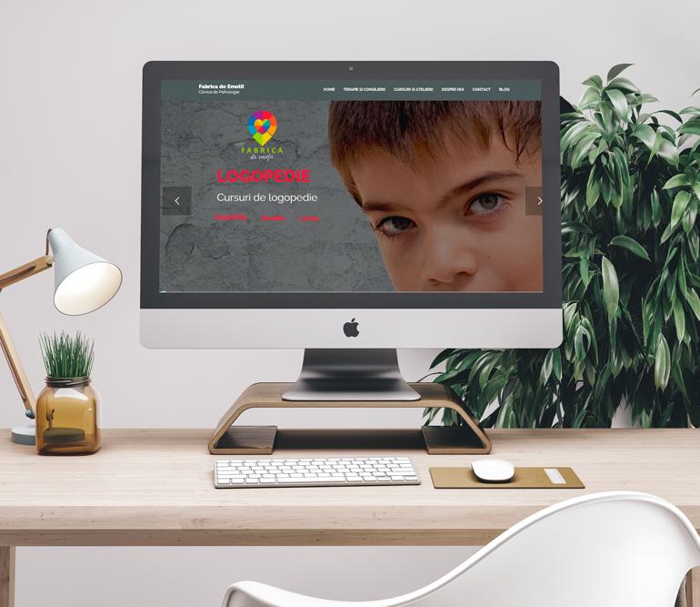 Mockup website -Fabrica-de-Emotii Ama Mihaescu Creative Studio