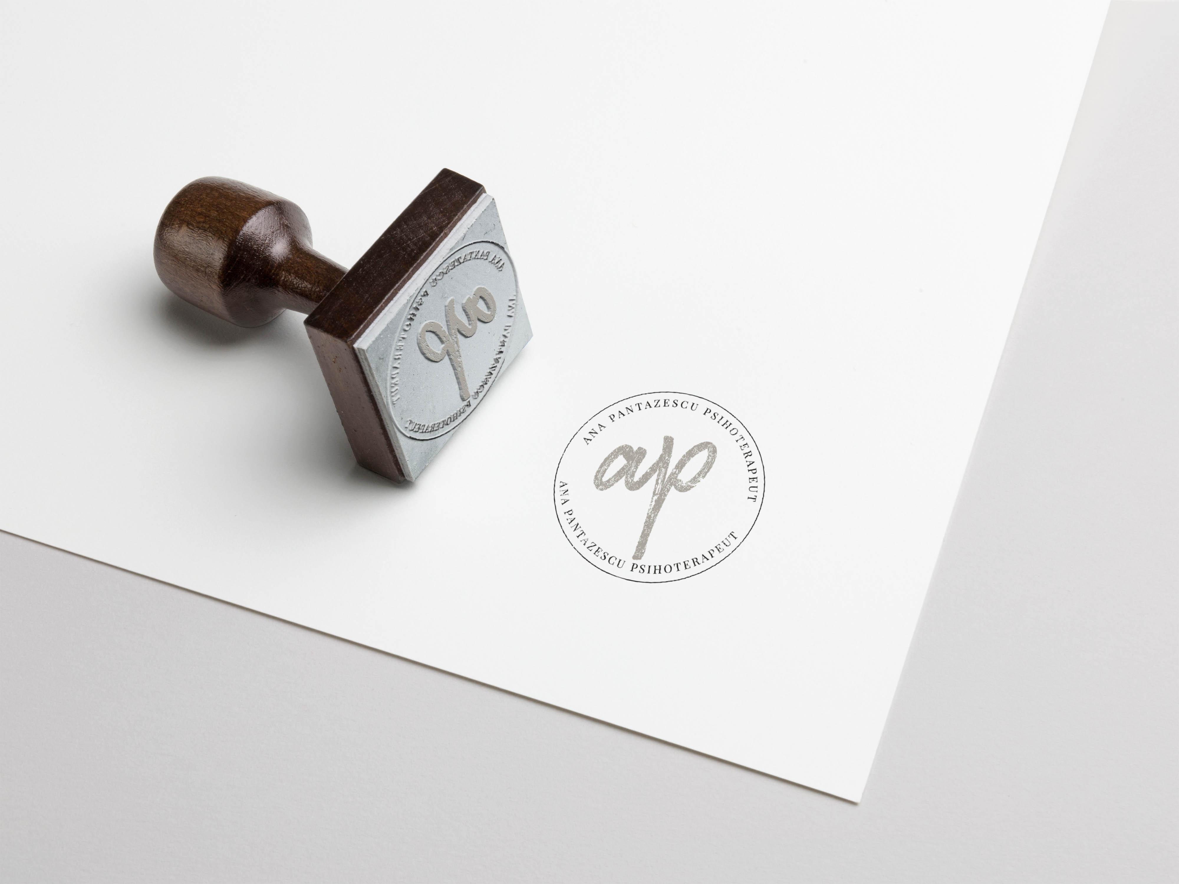 Stamp Logo Mockup Ana Pantazescu   Ama Mihaescu Creative Studio   Web Design   Branding