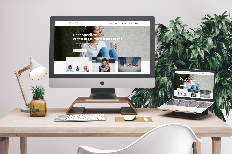 Website-mockup Ana Pantazescu   Ama Mihaescu Creative Studio   Web Design   Branding